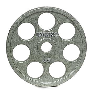 Ivanko E-Z Lift olímpicas (hierro fundido con agujeros - 35 libras par para uso con Olympic Weightlifting bares.: Amazon.es: Deportes y aire libre
