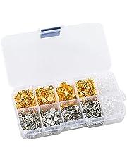 MUGE LEEN Oorbel Berichten en Ruggen Stud Oorbel Maken Kit met Oorbel Basis en Oorbel Ruggen voor Stud Clay Parel Sieraden Maken Oor Naald Ear Plug A #