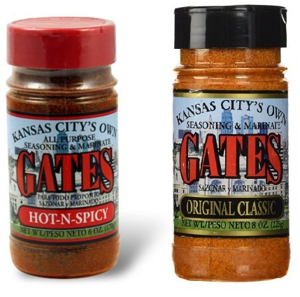 Gates Bar-B-Q All Purpose Original Classic) & Hot n Spicy 2 Pack Bundle