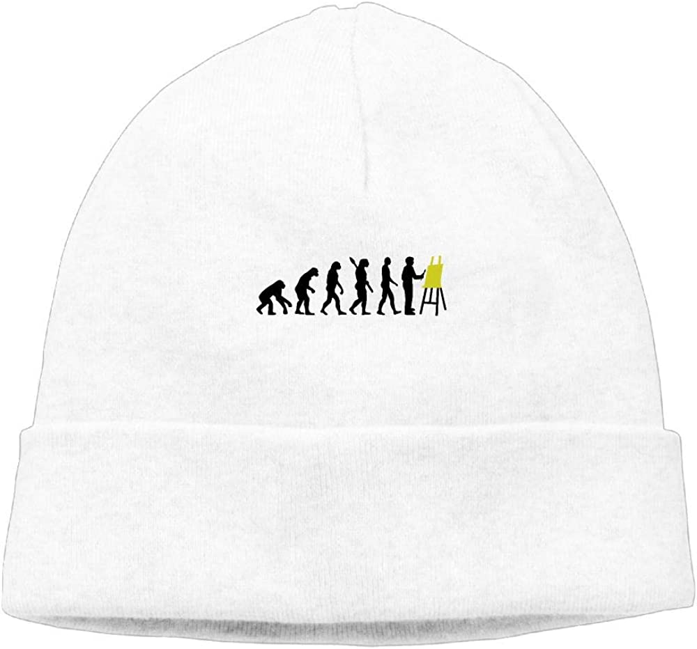 COLLJL8 Unisex Evolution Painters Outdoor Wool Beanies Hat Soft Winter Skull Caps