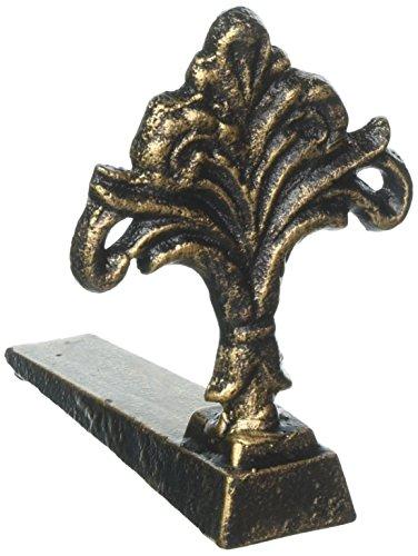 Home Decor shabby french country Fleur de lis CAST IRON statue door stop stopper doorstop ()