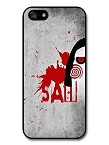 Saw Mask Movie Minimalist Illustration with Blood case for iPhone 5 5S A8218 by mcsharks
