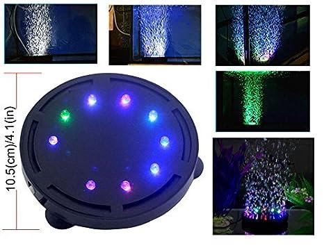 LONDAFISH Luz de la Burbuja del Acuario Luz de la lámpara de la Burbuja de la Bomba de Aire de la luz de la Bomba de Aire del Tanque de Pescados del ...