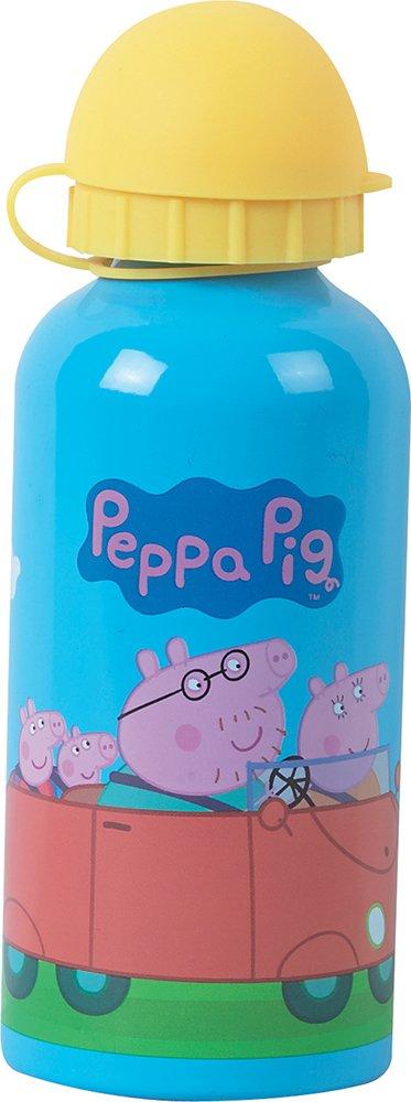 Peppa Pig Fun House 005179/Trinkflasche Aluminium f/ür Kinder Motiv Peppa Pig Aluminium blau 6,4/x 6,4/x 17/cm