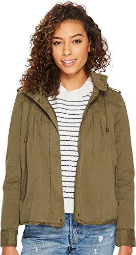 Lucky Brand Women's Raw Edge Military Jacket, Olive Night, XS