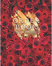 """Order Book Small Business: Sales Order Log, Keep Track of Your Customer Orders, Purchase Order Form, Home Based Small Business Log, Sales Log Book for Online and Retail Store - Large 8.5"""" x 11"""", Beautiful Red Roses - Floral Cover for Women"""