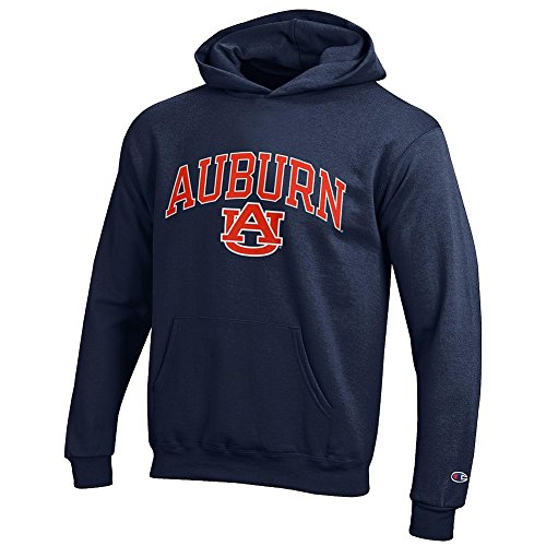 (Elite Fan Shop Auburn Tigers Kids Hooded Sweatshirt Navy - S )