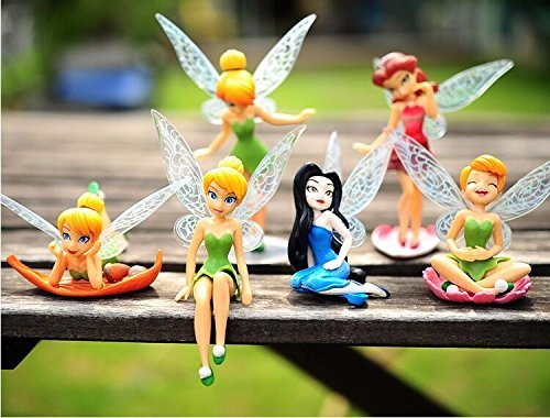 Tinker Bell Fairy PVC Collectible Figure Girl Toy Gift Set (6 Pcs)