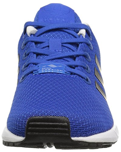 Adidas Youth ZX Flux Mesh Trainers Blue White