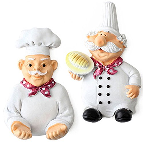 Coralpearl Cute Adhesive Resin Fat Chef Utility Wall, used for sale  Delivered anywhere in Canada