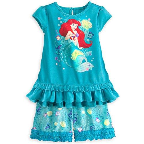 Disney Store Princess Pj (Disney Store Princess Ariel Little Girl 2PC Short Sleeve Pajama Set 5/6)