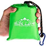 """KANGA POCKET BLANKET 55"""" X 44"""" - lightweight, portable picnic mat for the beach, camping or backpacking - compact, foldable outdoor tarp - water resistant and sand proof - perfect for travel"""