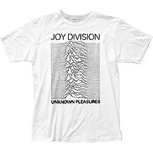 Joy Division Men's Unknown Pleasures Slim Fit T-shirt White