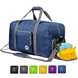 "24"" Foldable Duffle Bag 60L for Travel Gym Sports Lightweight Luggage Duffel"