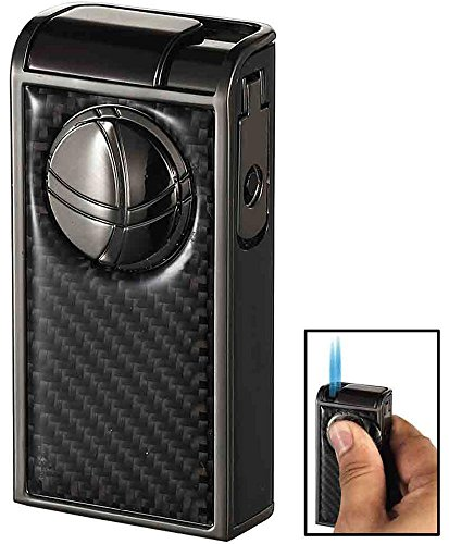 tal Carbon Fiber Double Jet Cigar Lighter ()