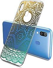 Suhctup Funda Compatible con Samsung Galaxy J7 Pro/J730 Transparente,Silicona TPU Gel Carcasa Dibujos Flor Crystal Suave Bumper Ultra Delgado [Soporte Carga Inalámbrica] Antigolpes Case Cover,Lace 2