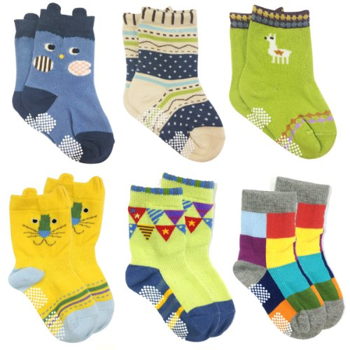 Wrapables Animal Non Skid Toddler Socks