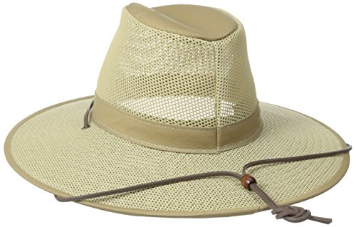 Henschel Crushable Soft Mesh Aussie Breezer Hat, Khaki, X-Large