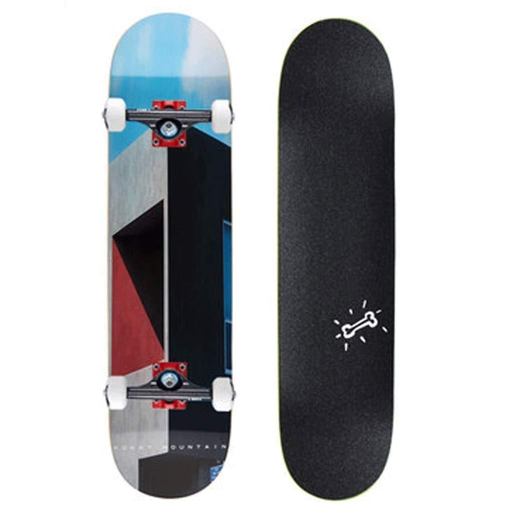 Gib niemals auf Street Skills Skateboard Kanada Ahorn Professionelle Bilaterale Slope Board Anfänger Erwachsene Jungen und Mädchen Autobahn Schritte (Farbe   A) B07Q33TSVX Skateboards Modern