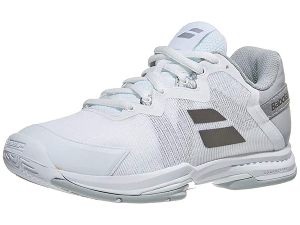 Babolat Women`s SFX 3 All Court Tennis Shoes White and Silver (7.5) by Babolat
