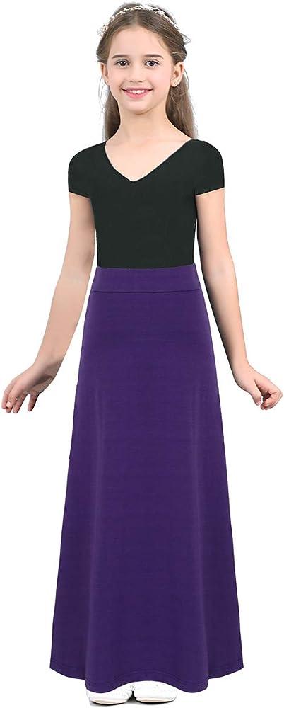 Freebily Falda Larga Verano para Niñas Adolescentes Vestido Falda ...