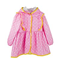 Qianliniuinc Nylon Child Princess Raincoat Kids Girls Baby Rain Coat Poncho Waterproof Clothes