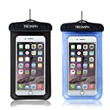 Universal Waterproof Cell Phone Bag, Triomph 2 Pack Waterproof Phone Pouch with Military