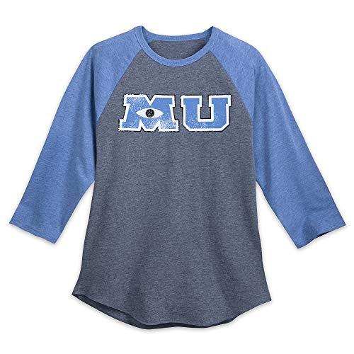 (Disney Monsters University Long Sleeve Raglan Shirt for Adults Size Mens XL)