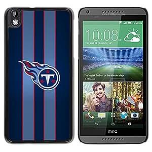 T Equipo deportivo - Metal de aluminio y de plástico duro Caja del teléfono - Negro - HTC DESIRE 816