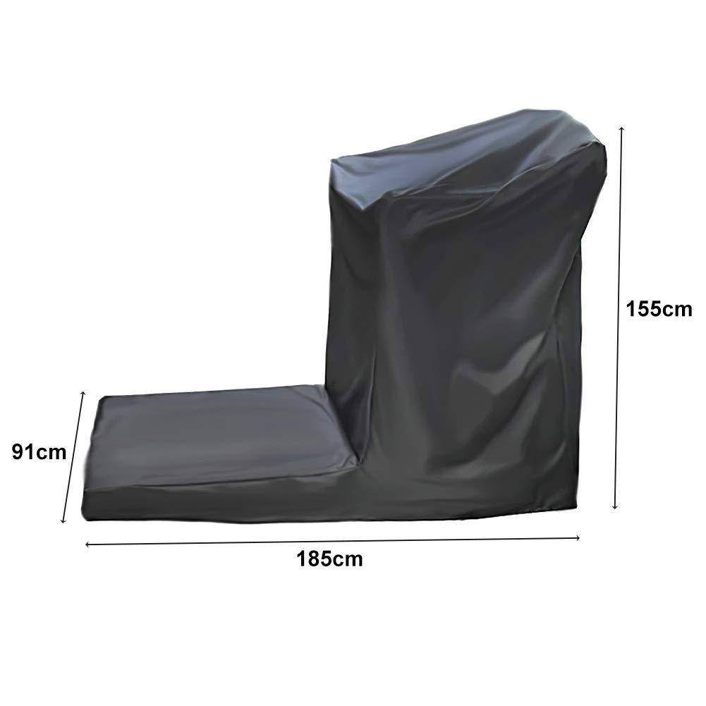 Folconauto Treadmill Cover Running Machine Cover Dust Cover Waterproof and UV Resistant Cover Oxford Fabric Furniture Cover (73'' x 36'' x 61'') by Folconauto (Image #2)
