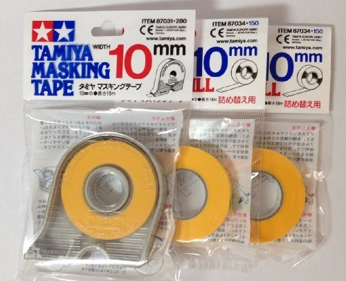 TAMIYA 10mm Masking Tape with 2pcs - Mask Stripes Paint