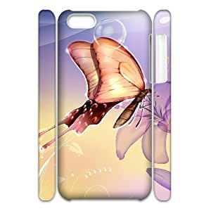ANCASE Customized 3D case Butterfly for iPhone 5C