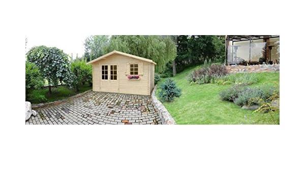 El jardín de casa B10 - 28 mm bloque de miniatura de casa, base de la superficie: 11,90 M², sillín de techo: Amazon.es: Bricolaje y herramientas