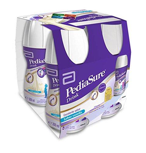 PediaSure Drink sabor vainilla. Pack 4x200ml. Alimento completo y equilibrado para niños a partir