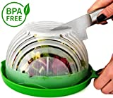 #2: UPGRADE Salad cutter bowl - Best Salad maker. Vegetable chopper, Cutter for Lettuce or Salad chopper for Salad in 60 Seconds by O'Salata (Green)