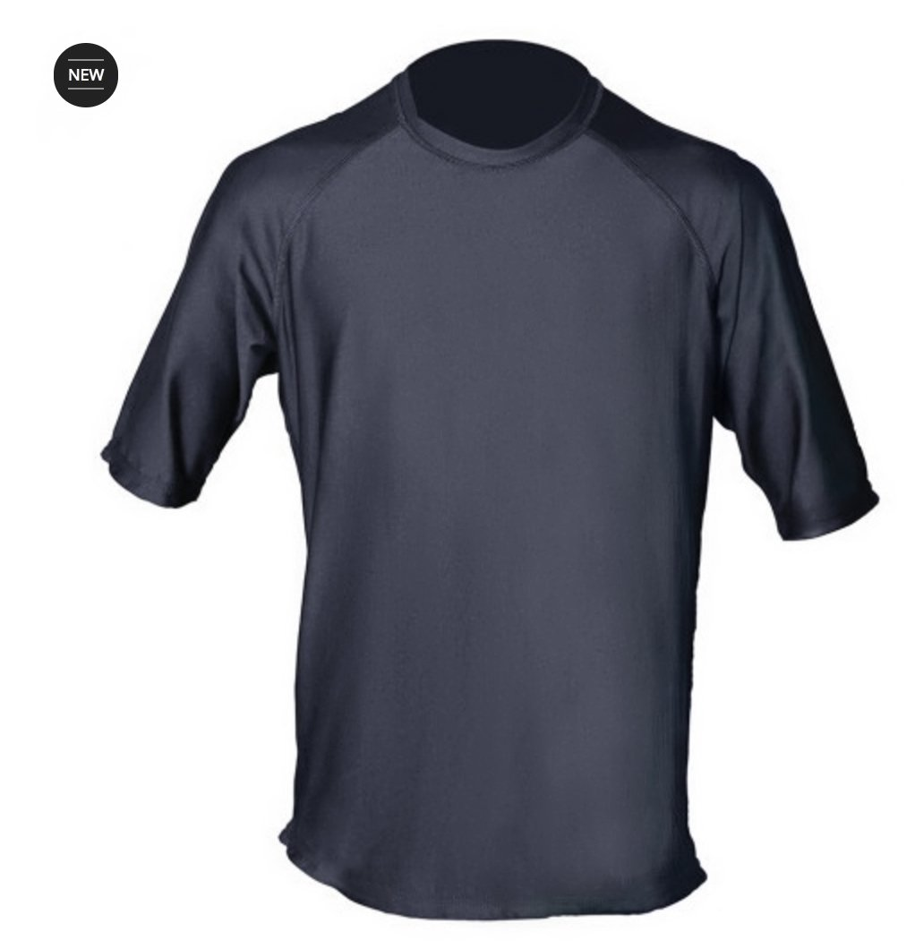 Loose Fit Swim Shirts For Men - Short Sleeve UV 50 + Sun Protection Swimwear - Play In The Sun All Day With No Sunburn - The Softest Most Comfortable Swimming Clothing (Charcoal Gray, Medium)
