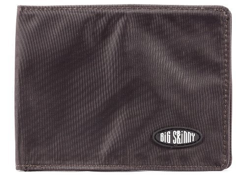 Big Skinny Men's Super Skinny Bi-Fold Slim Wallet, Holds Up to 30 Cards, Brown