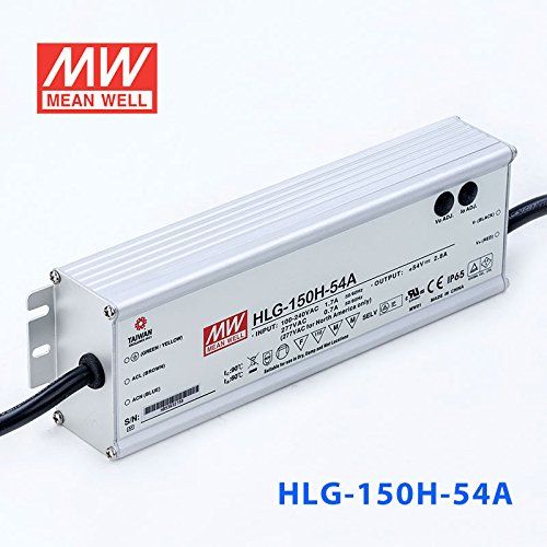 Meanwell HLG-150H-54A Power Supply - 150W 54V 2.8A - IP65 - Adjustable Output by MEAN WELL