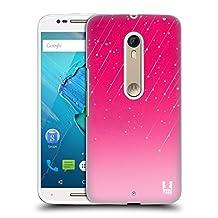 Head Case Designs Pink Neon Rain Ombre Hard Back Case for Motorola Moto G (3rd Gen)