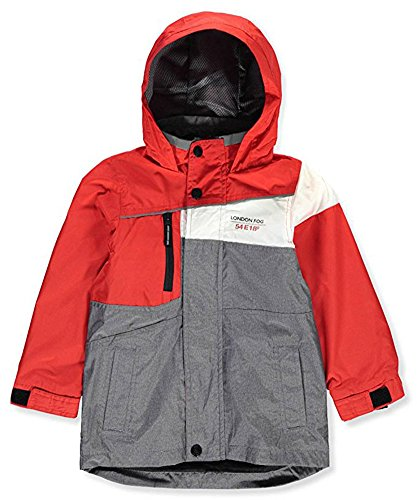 London Fog Big Boys' Hooded Rain Jacket (10-12)