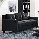 Lifestyle Solutions CCHRFKS3M26BKVA Harrington Sofa, Black