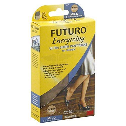 FUTURO Pantyhose, Mild Compression 8-15mm, Nude, Medium - 1 ea by Futuro French Cut