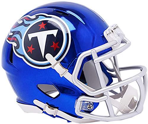 Sports Memorabilia Riddell Tennessee Titans Chrome Alternate Speed Mini Football Helmet - NFL Mini Helmets