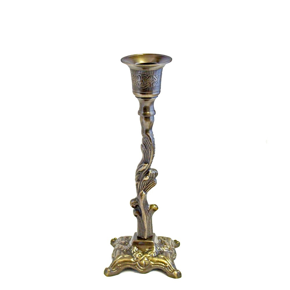 Grehom Candlestick - Spiral Antique, Candle holder made of solid brass