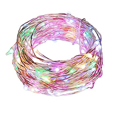 Ehome 100 LED 33ft/10m Starry Fairy String Light, Waterproof Decorative Copper Wire Lights Indoor Outdoor, Bedroom Festival Christmas Wedding Party Patio Window USB Interface