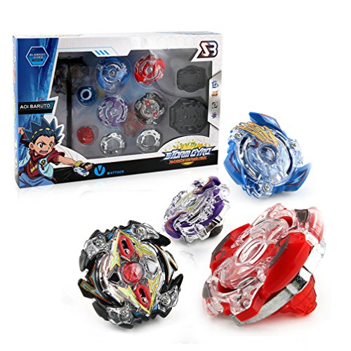 JKC KIDS Battling Top Storm God Gyro Launcher Grip Metal Masters Fusion Toy Big Set 4D Masters Constellation Battle Gyro Attack by JKC KIDS