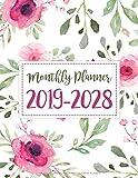 Ten Years 2019-2028 Monthly Calendar Planner: Ten Years   January 2019 to December 2028 Monthly Calendar Planner For Academic Agenda Schedule ... WaterColor Design (10 Years Calendar Planner)