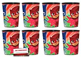 PJ Masks 16oz Plastic Favor Cups 8 Pack
