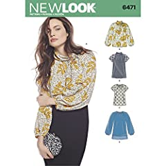 Feminine blouses are perfect to throw on with a pair of jeans, or dress it up with a pencil skirt. Bow blouses can have long Bishop sleeve, or short lace sleeve. NEW LOOK sewing pattern.