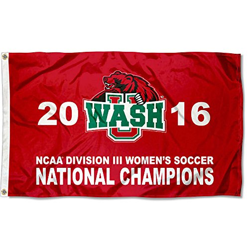 Washington St. Louis Bears 2016 Division III Womens Soccer Champions Flag by College Flags and Banners Co.